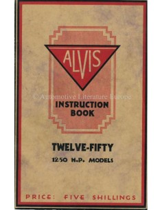 1928 ALVIS 12/50 OWNERS MANUAL ENGLISH