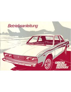1972 FIAT 130 COUPE OWNERS MANUAL GERMAN