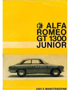 1967 ALFA ROMEO GT JUNIOR 1300 OWNERS MANUAL ITALIAN