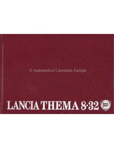 1988 LANCIA THEMA 8.32 OWNERS MANUAL ITALIAN