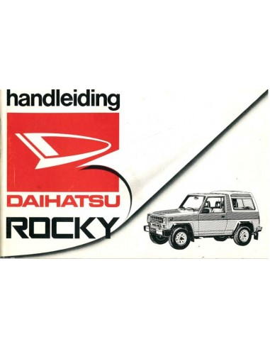 1987 DAIHATSU ROCKY OWNERS MANUAL DUTCH