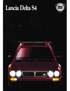 1986 LANCIA DELTA S4 BROCHURE ITALIAN