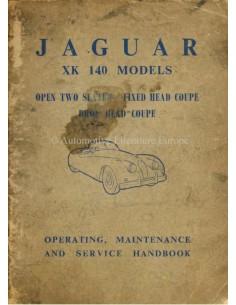 1954 JAGUAR XK 140 BETRIEBSANLEITUNG ENGLISCH