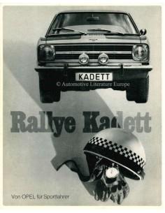 1966 OPEL KADETT B RALLYE BROCHURE DUITS