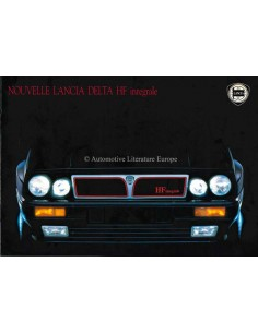1988 LANCIA DELTA HF INTEGRALE BROCHURE FRENCH