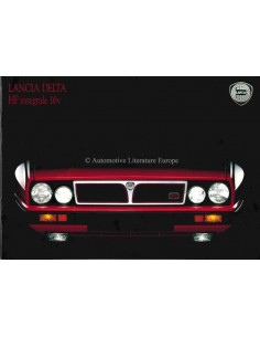 1989 LANCIA DELTA HF INTEGRALE BROCHURE ENGLISH