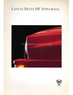 1993 LANCIA DELTA HF INTEGRALE BROCHURE ENGLISH