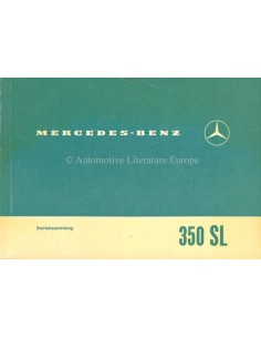 1971 MERCEDES BENZ 350 SL OWNERS MANUAL GERMAN