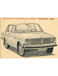 1968 VOLVO 140 OWNERS MANUAL DUTCH