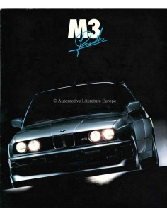 1989 BMW M3 JOHNNY CECOTTO BROCHURE GERMAN