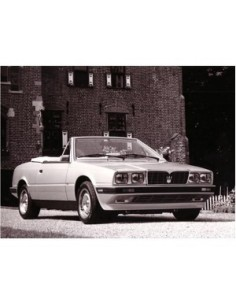 1986 MASERATI BITURBO SPYDER ZAGATO PRESS PHOTO