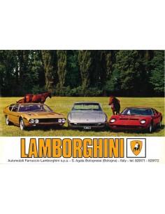 1968 LAMBORGHINI MIURA P400 / ISLERO / ESPADA S1 DATENBLATT