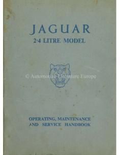 1956 JAGUAR MK I 2.4 BETRIEBSANLEITUNG ENGLISCH