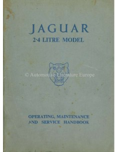 1956 JAGUAR MK I 2.4 OWNERS MANUAL ENGLISH