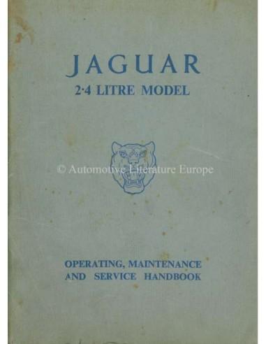 1956 JAGUAR MK I 2.4 OWNERS MANUAL ENGLISH