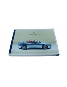 2002 MASERATI SPYDER OWNERS MANUAL ITALIAN
