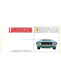 1968 LAMBORGHINI ESPADA S1 BROCHURE