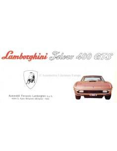 1969 LAMBORGHINI ISLERO 400 GTS BROCHURE