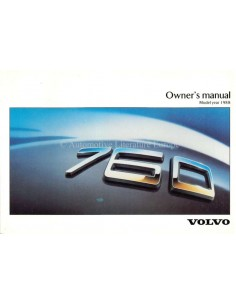 1988 VOLVO 760 OWNERS MANUAL ENGLISH