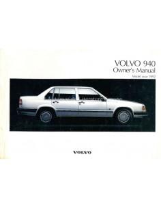 1992 VOLVO 940 BETRIEBSANLEITUNG ENGLISCH