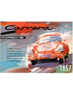 1957 PORSCHE CARRERA BROCHURE ENGLISH