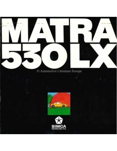 1970 MATRA 530 LX BROCHURE NEDERLANDS