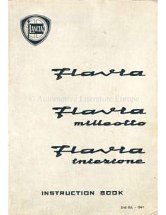 1967 LANCIA FLAVIA LIMOUSINE BETRIEBSANLEITUNG ENGLISCH