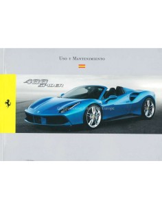 2015 FERRARI 488 SPIDER OWNERS MANUAL SPANISH