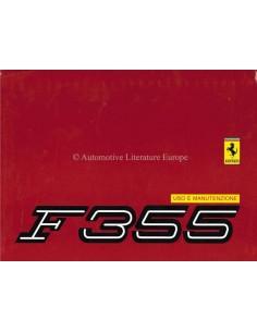 1995 FERRARI F355 OWNERS MANUAL