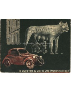 1938 FIAT 500 TOPOLINO BROCHURE NEDERLANDS