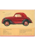 1938 FIAT 500 TOPOLINO BROCHURE DUTCH