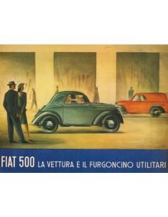1947 FIAT 500 B BROCHURE ITALIAN