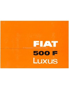 1966 FIAT 500 F LUXUS BROCHURE GERMAN