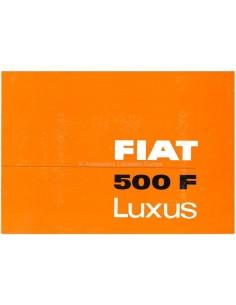 1966 FIAT 500 F LUXUS PROSPEKT DEUTSCH