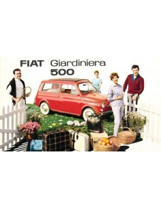 1968 FIAT 500 GIARDINIERA BROCHURE DUTCH