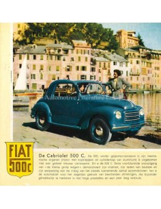 1951 FIAT 500 C BROCHURE DUTCH