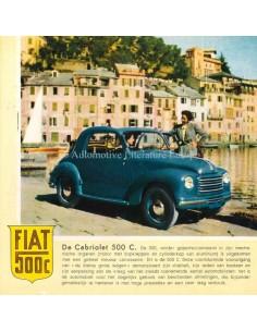 1951 FIAT 500 C PROSPEKT NIEDERLÄNDISCH