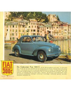 1953 FIAT 500 C BROCHURE DUTCH