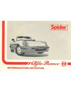 1989 ALFA ROMEO SPIDER OWNERS MANUAL GERMAN