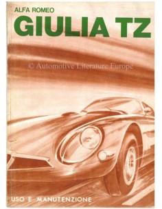 1963 ALFA ROMEO GIULIA TZ OWNERS MANUAL ITALIAN