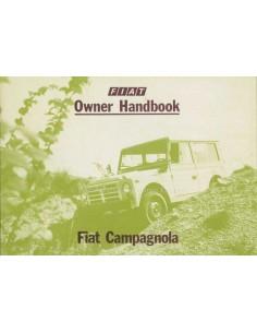 1979 FIAT CAMPAGNOLA BETRIEBSANLEITUNG ENGLISCH