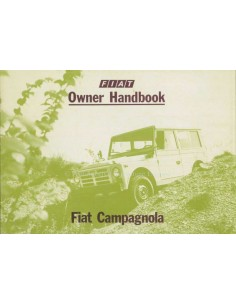 1979 FIAT CAMPAGNOLA OWNERS MANUAL ENGLISH