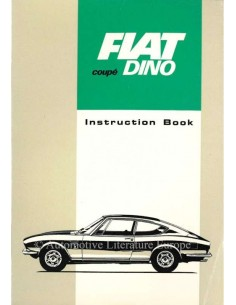 1967 FIAT DINO COUPE OWNERS MANUAL ENGLISH