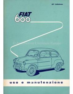 1959 FIAT 600 BETRIEBSANLEITUNG ITALIENISCH