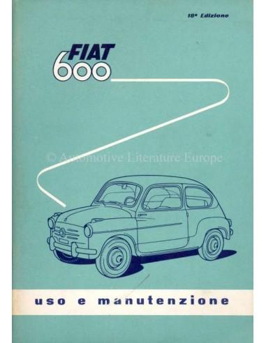 1959 FIAT 600 OWNERS MANUAL ITALIAN