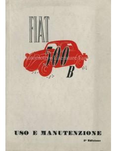 1949 FIAT 500 B BETRIEBSANLEITUNG ITALIENISCH