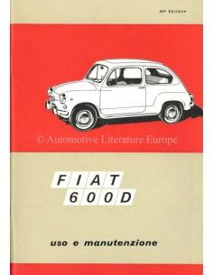 1968 FIAT 600 D BETRIEBSANLEITUNG ITALIENISCH