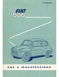1958 FIAT 600 OWNERS MANUAL ITALIAN