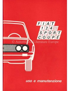 1970 FIAT 124 SPORT COUPE OWNERS MANUAL ITALIAN
