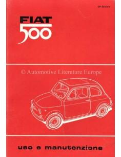 1966 FIAT 500 OWNERS MANUAL ITALIAN